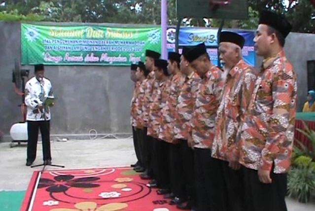 Pd Muhammadiyah Dan Aisyiyah Lamteng Dikukuhkan