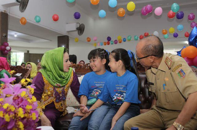 Stop Kekerasan Terhadap Anak, Inilah Pesan Lengkap Istri Gubernur Lampung Yustin Ridho Ficardo