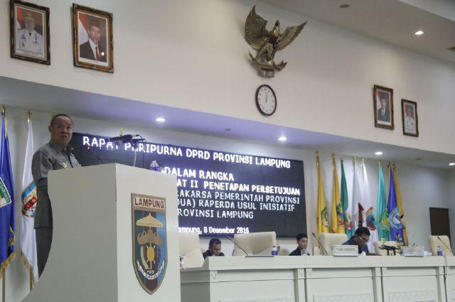 Ini Dia 4 Rancangan Peraturan Daerah Lampung Yang Ditetapkan Dalam Sidang Paripurna DPRD