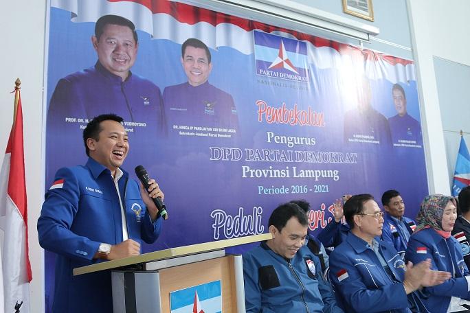 Gubernur Lampung Menghadiri Acara Pembekalan DPD Partai Demokrat
