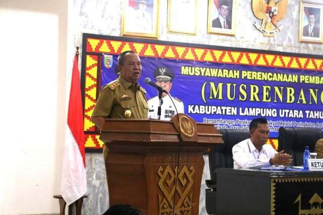 Wakil Gubernur Lampung Membuka Acara Musrebang RKPD 2018