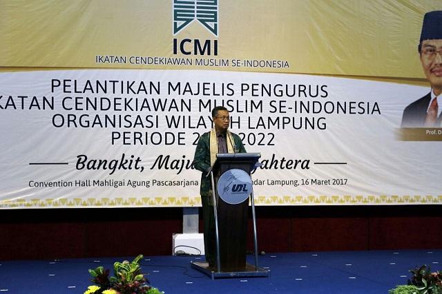 Pemprov Lampung Berharap ICMI Mampu Menjadikan Lampung Semakin Bangkit