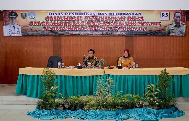 Gubernur Lampung Menganggarkan 75 Miliyar Untuk ProgramBantuan Operasional Sekolah Daerah(Bosda)