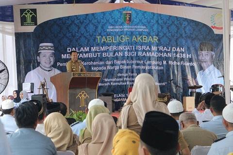 Gubernur Lampung Beri Bantuan Sumur Bor Di Rutan Way Hui