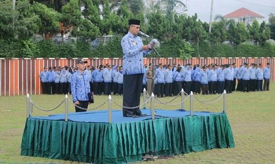 Pemerintah Provinsi Lampung melaksanakan Upacara Peringatan Hari Pancasila
