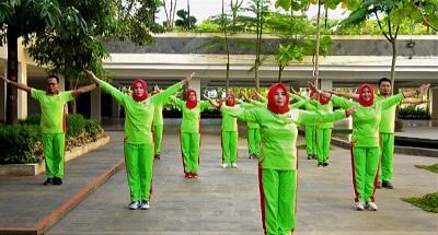 Pemprov Lampung Perkenalkan Senam Germas di Hari Keluarga Nasional XXIV