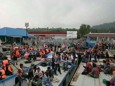 Rombongan Terlihat Antusias Tour Lampung Krakatau Festival (LKF) ke- XXVII